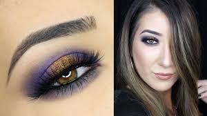 purple and gold smokey eye makeup tutorial anastasia beverly
