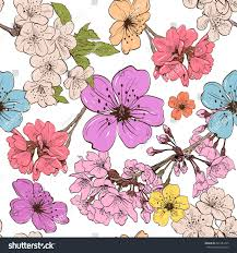 apple flowers ornament pattern backgrounds vector stock vector