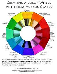 creating a color wheel with silks acrylic glazes by tammy dial