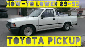 toyota trucks how to lower 1994 toyota pickup 2wd 89 95 models belltech sp444