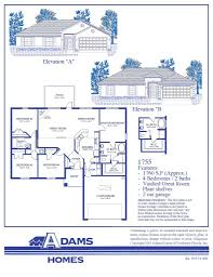 Calculate Square Footage Of A House Featured Home U2013 The Adams Homes 1755 Adams Homes