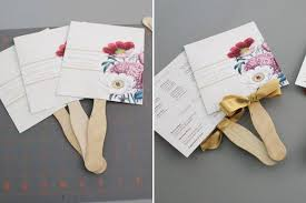 Wedding Programs With Ribbon Diy Pretty Blooms Wedding Program Paddle Fan
