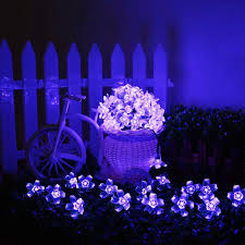 solar powered string lights agptek waterproof 50 led solar powered blossom string lights for