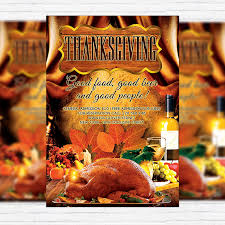 thanksgiving evening premium flyer template cover