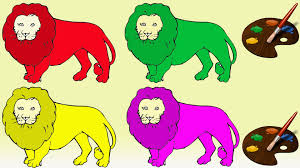 lion jungle king colors for children learning colors with lion
