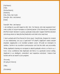 11 sample recommendation letter for graduate medical report