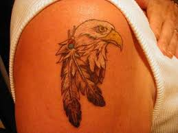small mexican eagle tattoo on shoulder real photo pictures