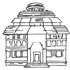 temple coloring page of sun coloring sheet