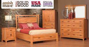 Solid Wood Bedroom Set Made In Usa Shaker Style Bedroom Sets Amish Divider Platform With Storage