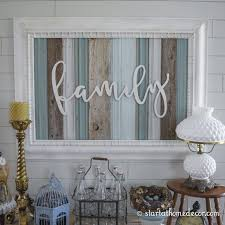 wood frame wall decor start at home decor s reclaimed wood signs with wood word cutouts