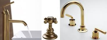 Antique Bathroom Faucets Fixtures Bathroom Accessories Antique Brass Three Holes Brushed Bathroom