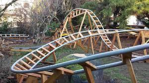 roller coaster for backyard u engineer builds 3 roller coasters in his backyard for grandkids