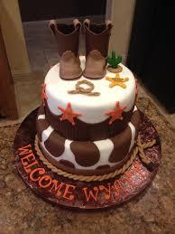 baby shower baby boy cake fondant cowboy boots western u0026 cowboy