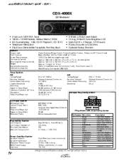 sony cdx 4000x fm am compact disc player manual