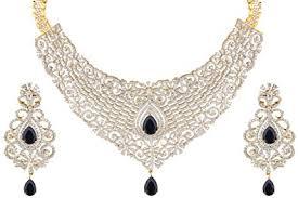 zircon necklace set images Swasti jewels cz zircon indian fashion jewelry set jpg