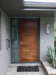 modern nice design of the modern exterior doors that has wooden
