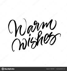 warm wishes and new year brush calligraphy stock