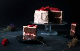 chocolate layer cake with macerated strawberries savory simple