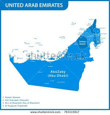 map of the uae detailed map uae regions states cities stock vector 763910611