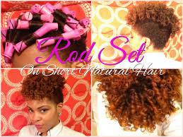 how to do a twa on medium length hair perm rod set tutorial on short natural hair twa youtube