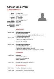Sjabloon Cv Jobstudent cv voorbeeld curriculum vitae 5 gratis cv templates downloaden