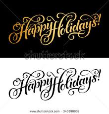 vector illustration paper cards happy holidays stock vector