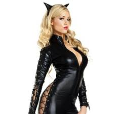 Catwoman Halloween Costume Faced Catwoman Womans Costume