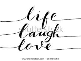 love live laugh live laugh love hand lettered quote stock vector 583405258