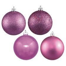 32ct bubblegum pink assorted finishes ornament set