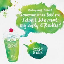 mcdonald u0027s print advert by moroch shamrock shake o u0027really ads