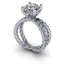 cushion cut split shank engagement rings rope split shank engagement ring setting cushion cut