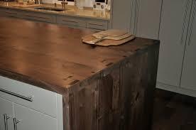 Kitchen Island Wood Countertop Premium Wide Plank Waterfall Style Brooks Custom