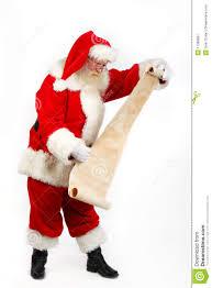 santa checking his list royalty free stock photography image