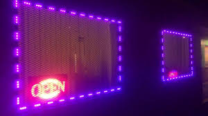 how to install led window lights rgb multicolor