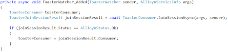 Toaster Exe Application Error Using The Alljoyn Studio Extension Internet Of Things Blog