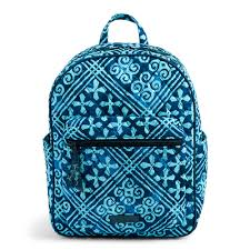 vera bradley leighton backpack in cuban tiles the paper store