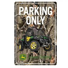 camo home decor john deere gator parking only camo sign rungreen com