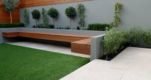 Raised Garden Bed With Bench Seating Small Garden Design And Landscaping Seating Raised Bed Paving Fake