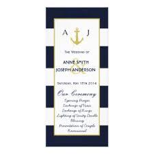 nautical wedding programs nautical wedding programs gifts on zazzle