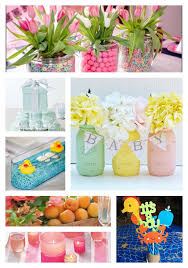 Decorating For A Baby Shower On A Budget Inexpensive Baby Shower Centerpiece And Decor Ideas All Items Can