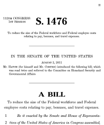 workforce reduction federal workforce reduction and reform act of 2011 2011 112th