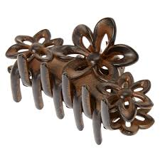 hair claw medium wood flower hair claw s