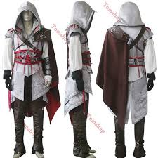 assassin u0027s creed ii 2 ezio white edition cosplay uniform suit
