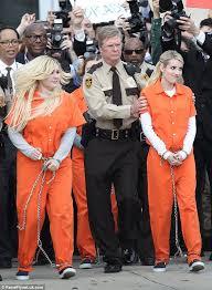 Prison Jumpsuit Stars Of Scream Queens Spotted Filming Scene In Orange Prison