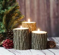 christmas centerpiece tree branch candle holders holiday