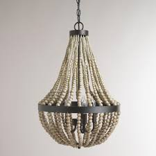 bead chandelier popular on small wood bead chandelier discover a