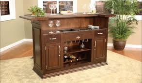 bar classic home bar cabinets with side wine storage brown