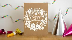 birthday card papercut card birthday template paper cutting