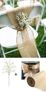 make these adorable chairbacks with burlap and faux baby u0027s breath