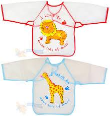 kids childs arts craft painting apron baby bib messy play wipe